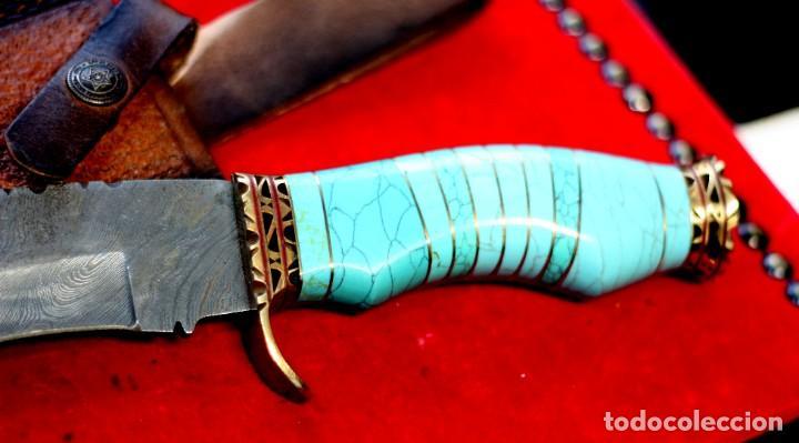 Joyeria: Cuchillo joyeria.mango piedra turquesa en Damasco - Foto 9 - 223652371