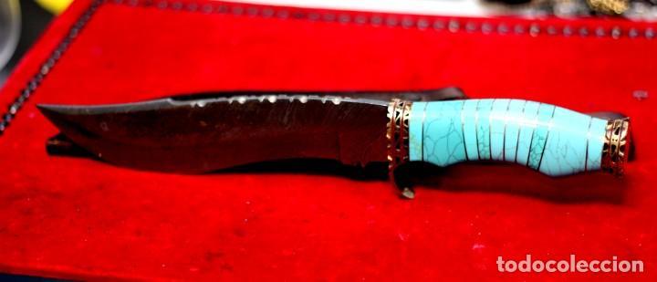 Joyeria: Cuchillo joyeria.mango piedra turquesa en Damasco - Foto 10 - 223652371