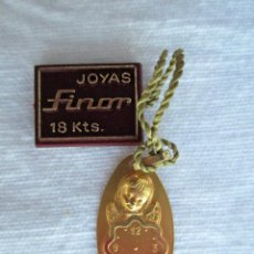Joyeria: COLGANTE DE ORO DE 18 KLTS. MEDALLA ANGEL DE LA GUARDA. Lote 223894582