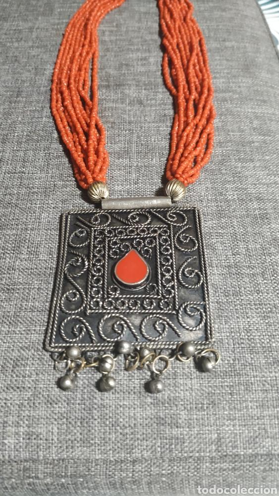 Joyeria: Collar coralina y adornos plata vieja - Foto 6 - 224504773