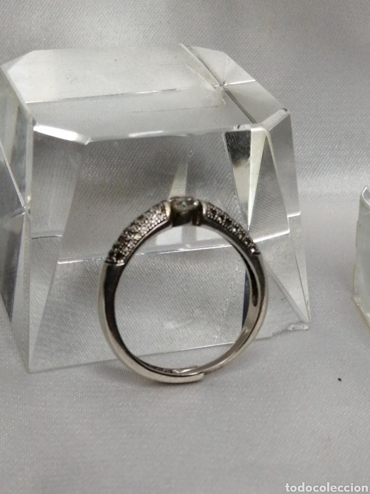 Joyeria: Anillo ajustable plata de ley y cuarzo blanco - Foto 2 - 224980535