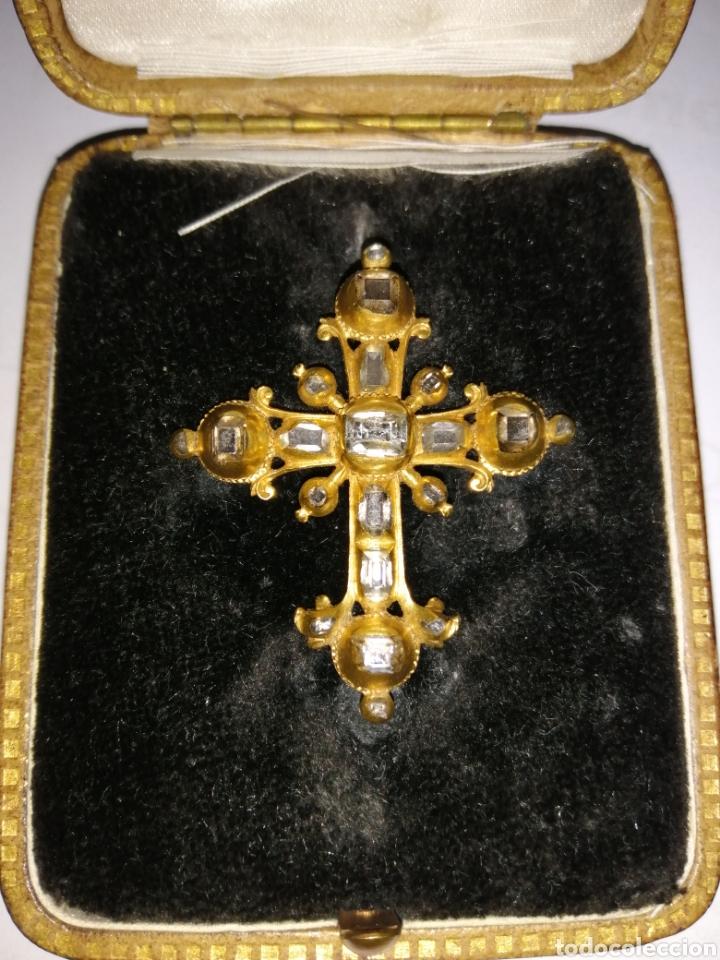 Joyeria: Espectacular cruz en oro y diamantes talla antigua Salamanca siglo XVIII - Foto 2 - 225925275