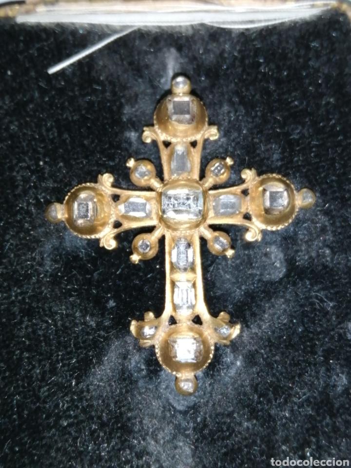 Joyeria: Espectacular cruz en oro y diamantes talla antigua Salamanca siglo XVIII - Foto 3 - 225925275