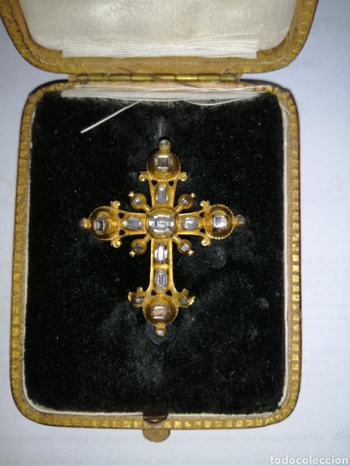 Joyeria: Espectacular cruz en oro y diamantes talla antigua Salamanca siglo XVIII - Foto 7 - 225925275