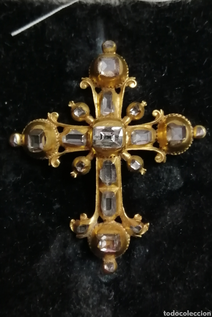 Joyeria: Espectacular cruz en oro y diamantes talla antigua Salamanca siglo XVIII - Foto 11 - 225925275