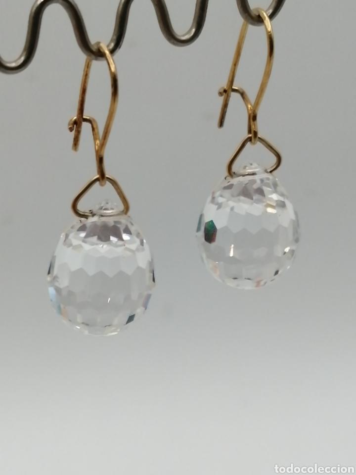 Joyeria: Antiguos pendientes cristal de Swarovski y oro 18k - Foto 2 - 226133245