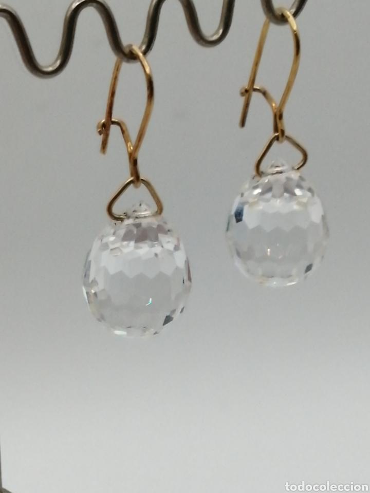 Joyeria: Antiguos pendientes cristal de Swarovski y oro 18k - Foto 3 - 226133245