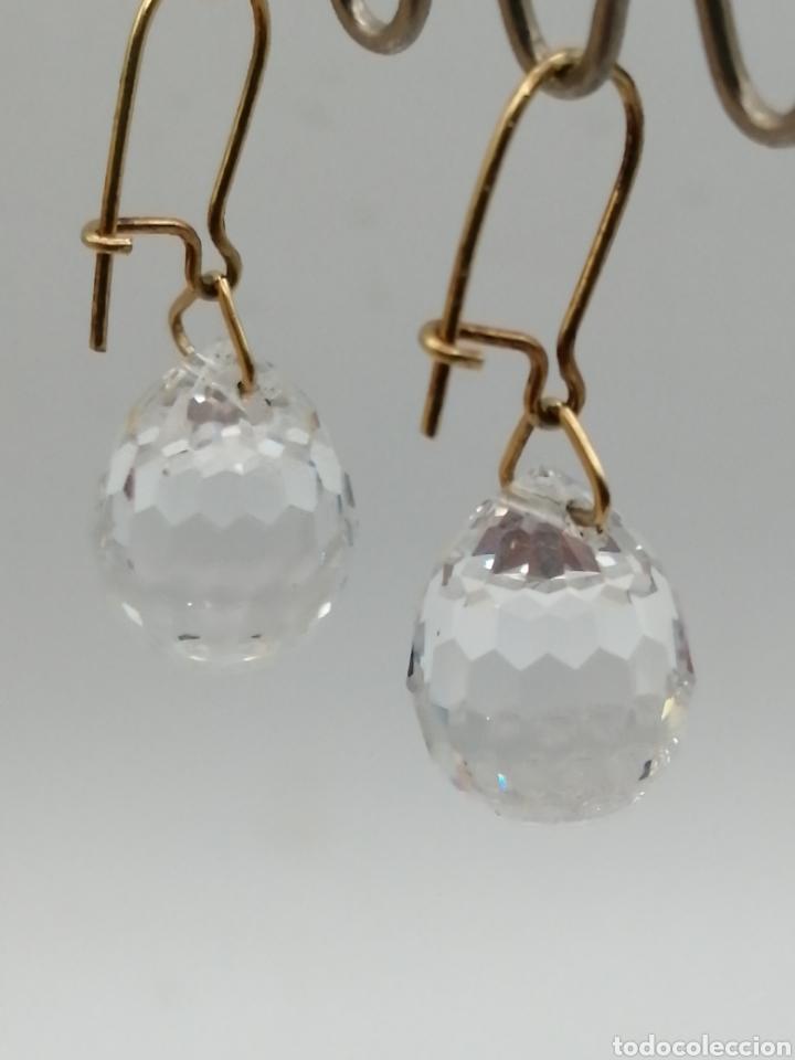 Joyeria: Antiguos pendientes cristal de Swarovski y oro 18k - Foto 4 - 226133245