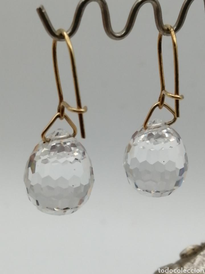 Joyeria: Antiguos pendientes cristal de Swarovski y oro 18k - Foto 5 - 226133245