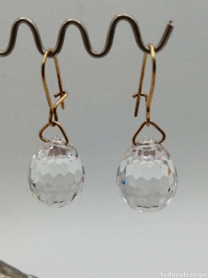 Joyeria: Antiguos pendientes cristal de Swarovski y oro 18k - Foto 6 - 226133245