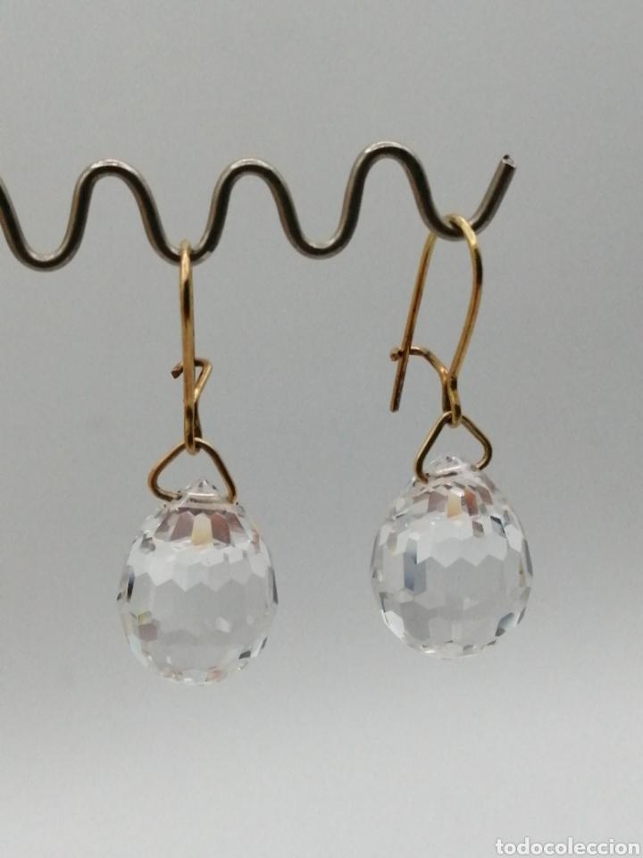 Joyeria: Antiguos pendientes cristal de Swarovski y oro 18k - Foto 7 - 226133245