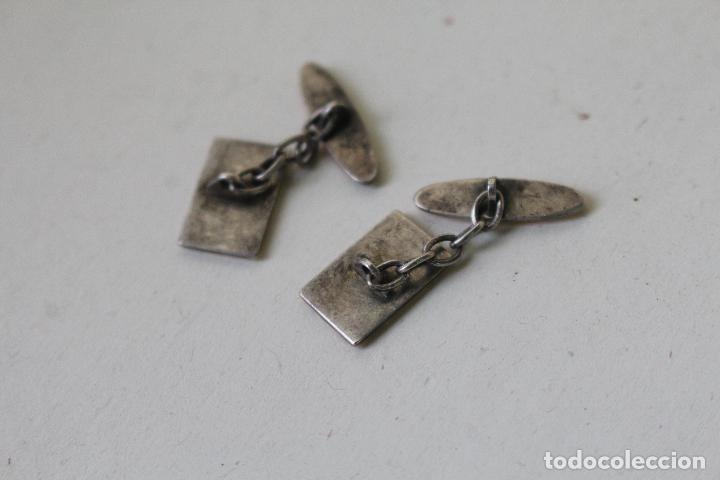 Joyeria: gemelos de plata chapados en oro 14. - Foto 2 - 244629400