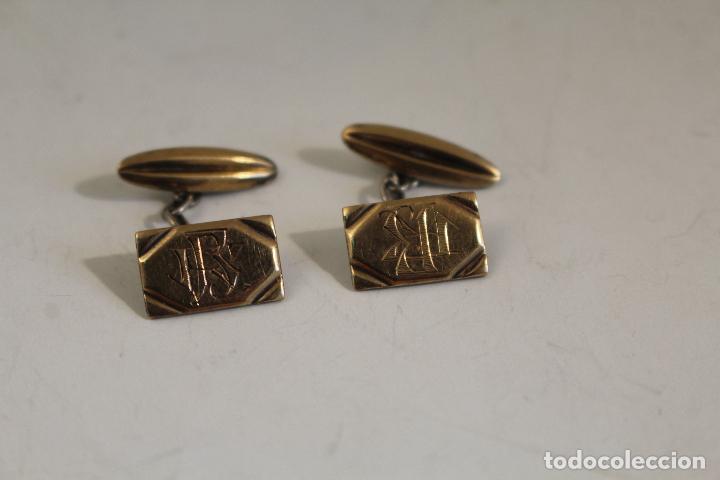 Joyeria: gemelos de plata chapados en oro 14. - Foto 4 - 244629400