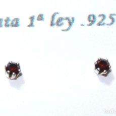 Joyeria: PENDIENTES DE PLATA DE 1RA LEY .925 CON CIRCONITA COLOR, 3 MM, NUEVO CON EMPAQUE. Lote 227092185