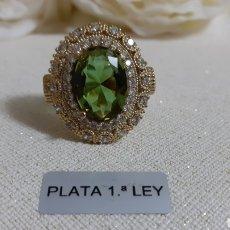 Joalheria: ANILLO DE PLATA Y PIEDRA DEL SULTÁN. Lote 227166330