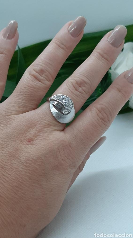 Joyeria: Anillo de plata 925 y circonitas , nr° 15 y 4.20 gramos. Observe las fotos y descripción. - Foto 2 - 228354005