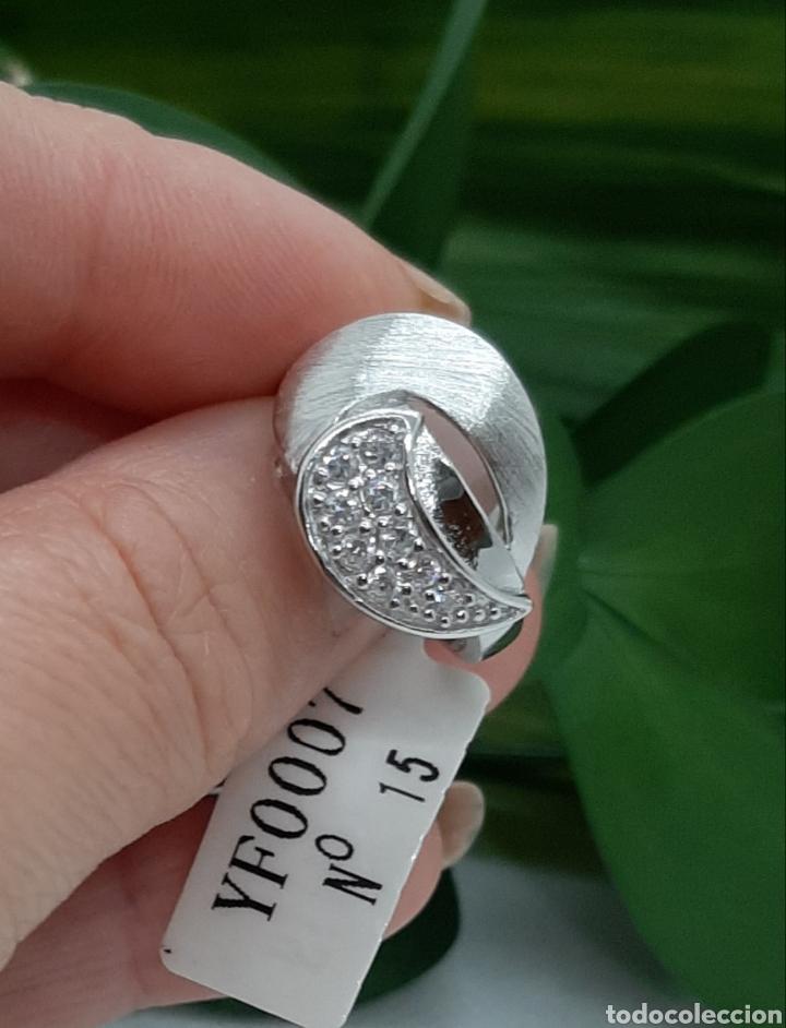 Joyeria: Anillo de plata 925 y circonitas , nr° 15 y 4.20 gramos. Observe las fotos y descripción. - Foto 3 - 228354005