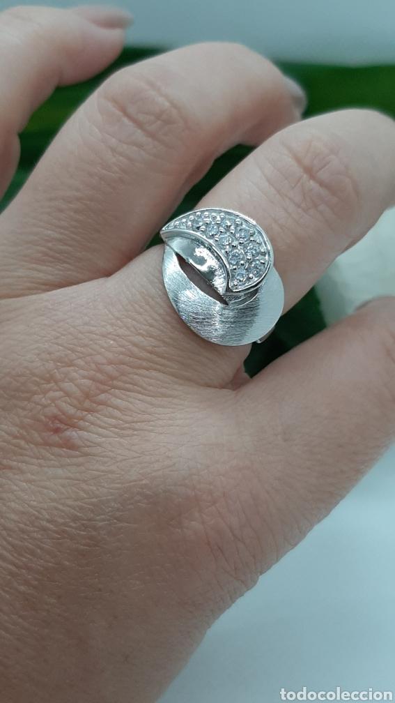 Joyeria: Anillo de plata 925 y circonitas , nr° 15 y 4.20 gramos. Observe las fotos y descripción. - Foto 5 - 228354005