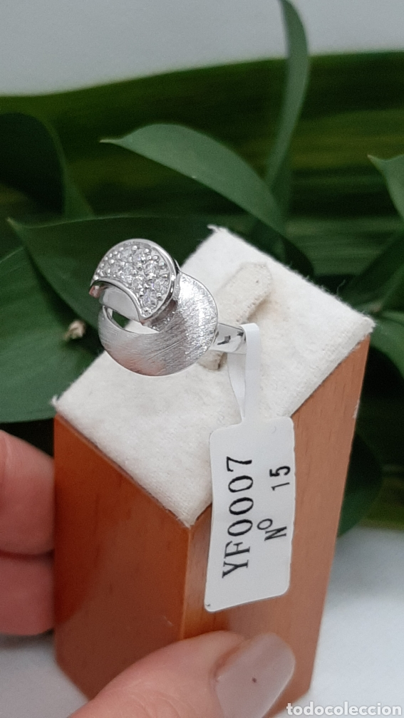 Joyeria: Anillo de plata 925 y circonitas , nr° 15 y 4.20 gramos. Observe las fotos y descripción. - Foto 6 - 228354005