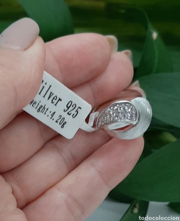 Joyeria: Anillo de plata 925 y circonitas , nr° 15 y 4.20 gramos. Observe las fotos y descripción. - Foto 7 - 228354005