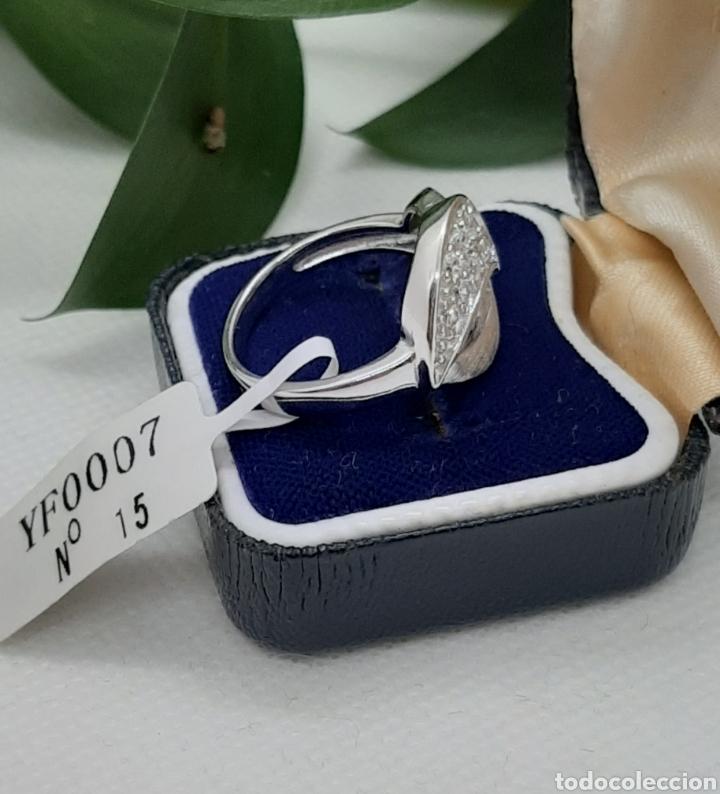 Joyeria: Anillo de plata 925 y circonitas , nr° 15 y 4.20 gramos. Observe las fotos y descripción. - Foto 8 - 228354005