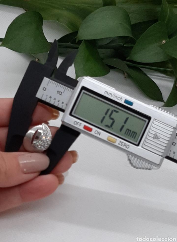 Joyeria: Anillo de plata 925 y circonitas , nr° 15 y 4.20 gramos. Observe las fotos y descripción. - Foto 9 - 228354005
