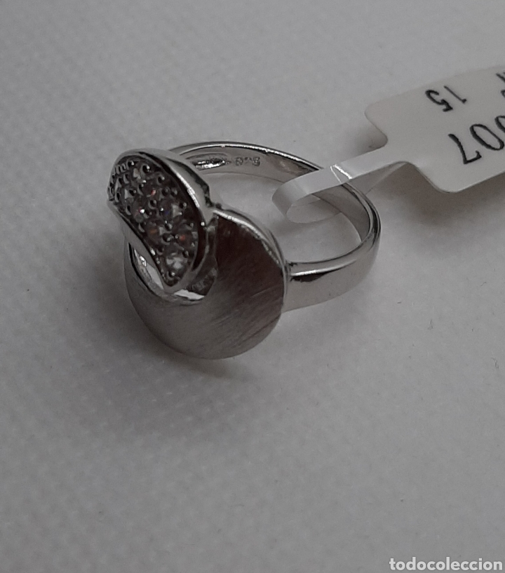 Joyeria: Anillo de plata 925 y circonitas , nr° 15 y 4.20 gramos. Observe las fotos y descripción. - Foto 11 - 228354005