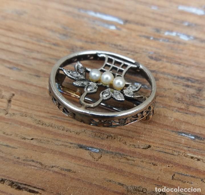 Joyeria: Broche diamantes s. XIX, isabelino , antiguo - Foto 6 - 228971280