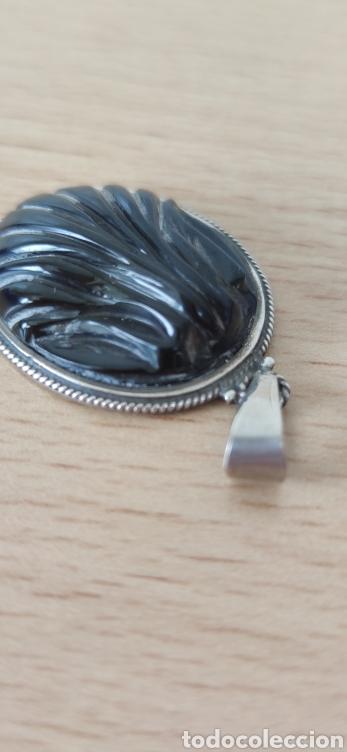 Joyeria: Colgante hecho a mano en plata de ley y azabache. - Foto 3 - 229048800
