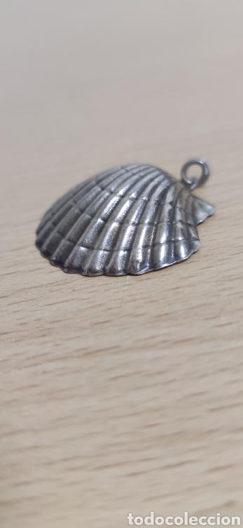 Joyeria: Colgante en plata de ley representando concha vieira. - Foto 2 - 229426765