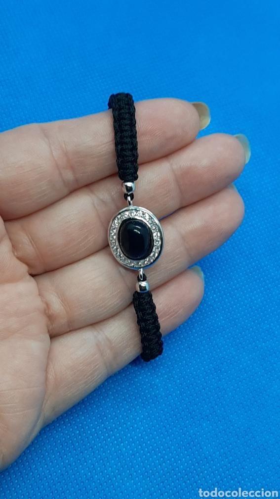 Joyeria: Pulsera plata esterlina 925 Ónix y circonita ,hecha con hilo negro. - Foto 2 - 230225120