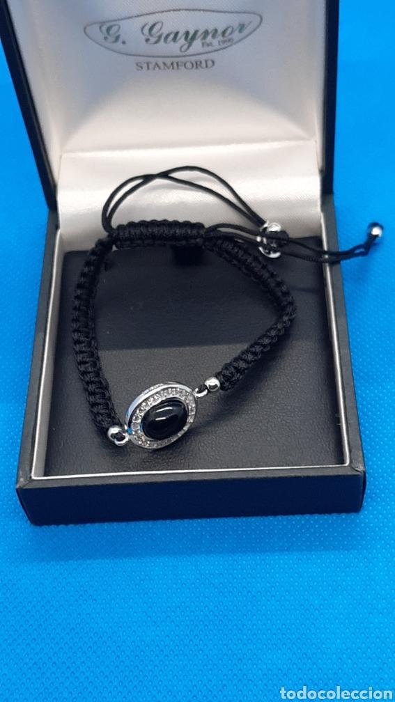 Joyeria: Pulsera plata esterlina 925 Ónix y circonita ,hecha con hilo negro. - Foto 5 - 230225120