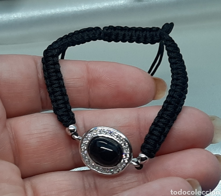 Joyeria: Pulsera plata esterlina 925 Ónix y circonita ,hecha con hilo negro. - Foto 8 - 230225120