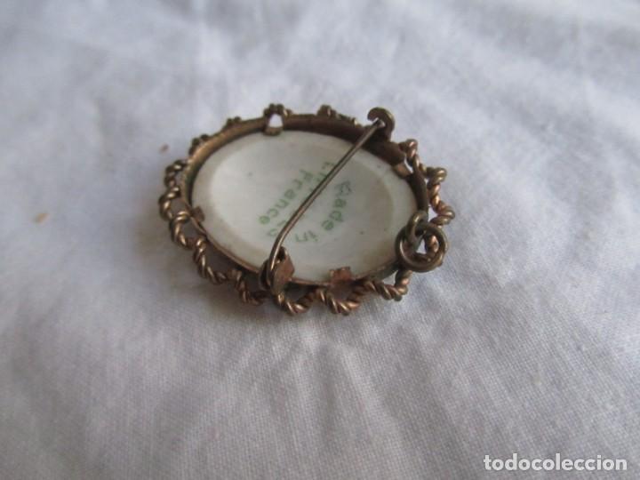 Joyeria: Broche colgante pintado a mano sobre porcelana de Limonges - Foto 5 - 230237535