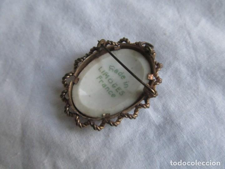 Joyeria: Broche colgante pintado a mano sobre porcelana de Limonges - Foto 6 - 230237535
