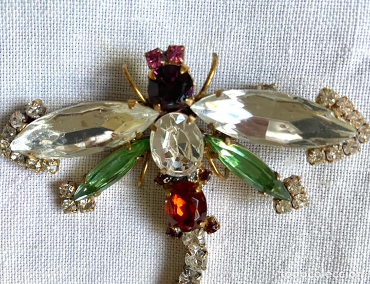 Joyeria: Broche vintage de cristales libelula - Foto 2 - 234782655
