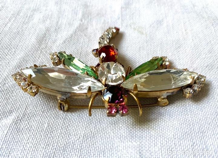 Joyeria: Broche vintage de cristales libelula - Foto 3 - 234782655