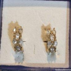 Joyeria: LINDOS PENDIENTES GOLDFILLED Y CIRCONITAS. Lote 234857445