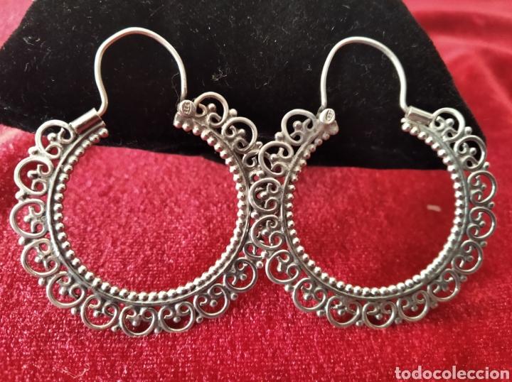 Joyeria: Arracadas vintage de plata de ley tipo jerezanas - Foto 2 - 234915365