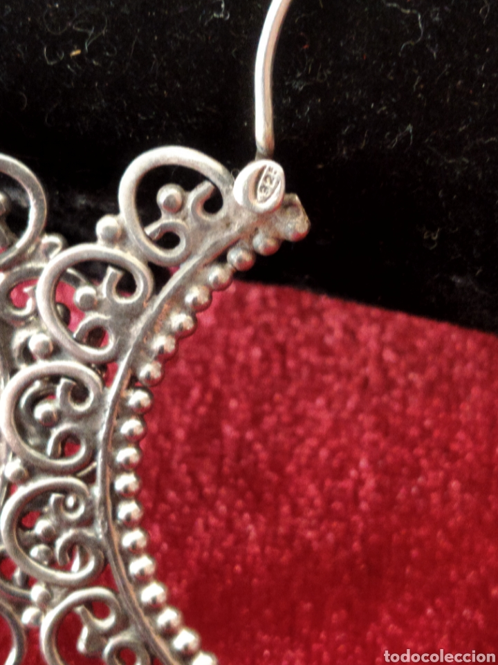 Joyeria: Arracadas vintage de plata de ley tipo jerezanas - Foto 3 - 234915365