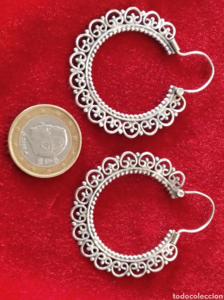 Joyeria: Arracadas vintage de plata de ley tipo jerezanas - Foto 4 - 234915365
