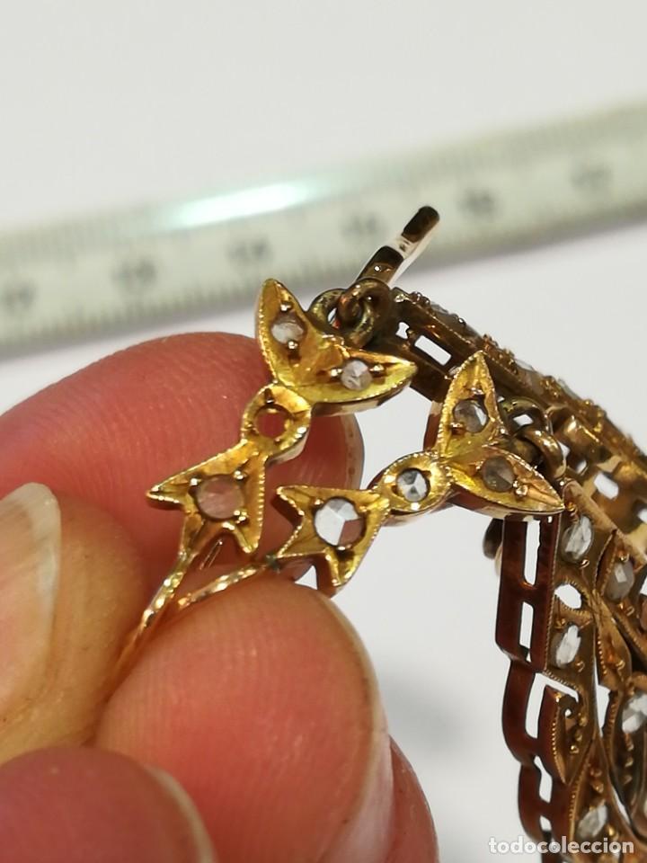Joyeria: Pendientes de oro de 18k. Pendientes antiguos de oro. - Foto 3 - 234925280
