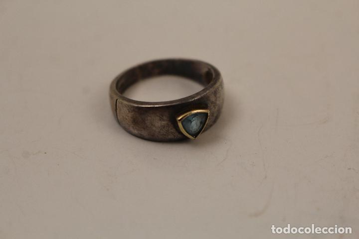 Joyeria: anillo en plata de ley 925 con aguamarina - Foto 2 - 268867894