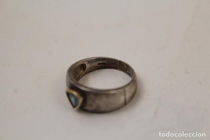 Joyeria: anillo en plata de ley 925 con aguamarina - Foto 3 - 268867894
