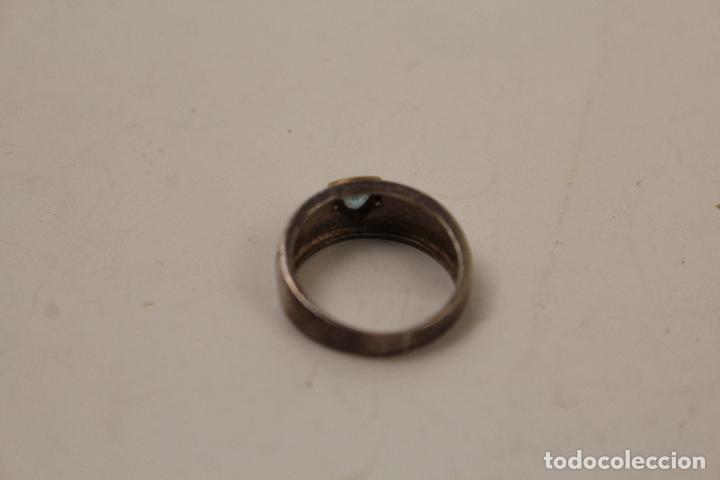 Joyeria: anillo en plata de ley 925 con aguamarina - Foto 4 - 268867894
