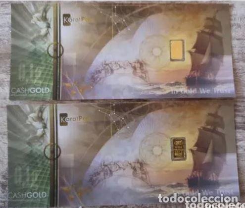 Joyeria: LINGOTE DE ORO 999,9 PUREZA 0,10 GRAMOS 2 LINGOTE DE ORO de 0,10 g. PURO 999,9 !! IDEAL INVERSIÓN - Foto 2 - 235734075