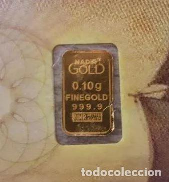 Joyeria: LINGOTE DE ORO 999,9 PUREZA 0,10 GRAMOS 2 LINGOTE DE ORO de 0,10 g. PURO 999,9 !! IDEAL INVERSIÓN - Foto 3 - 235734075