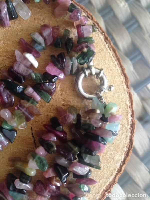 Joyeria: collar en turmalina con cierre de plata 925 - Foto 2 - 236159505