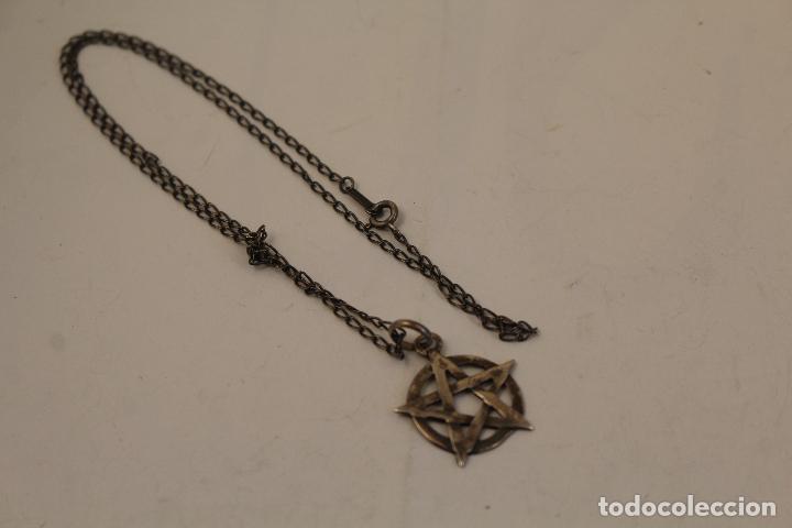Joyeria: colgante pentagrama - estrella de david y cadena en plata de ley - Foto 2 - 268861034
