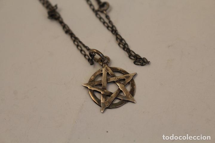 Joyeria: colgante pentagrama - estrella de david y cadena en plata de ley - Foto 3 - 268861034
